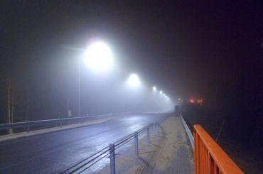 Oświetlenie drogi iwiaduktu